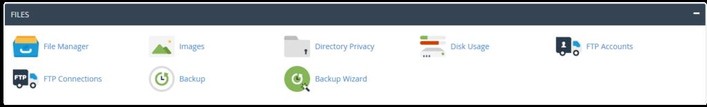 cPanel gestionnaire de fichiers