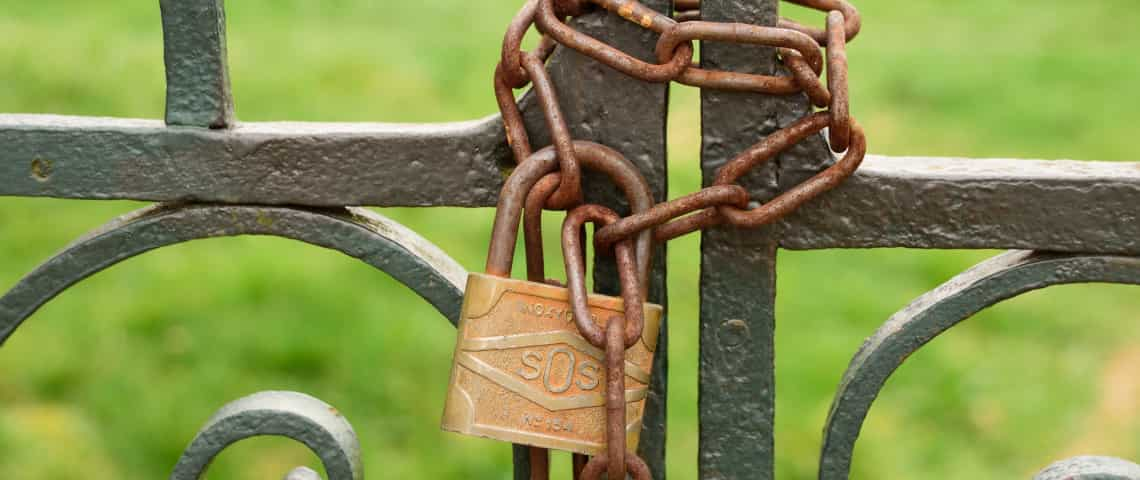 Padlock and password