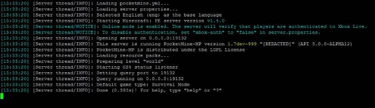 Build a Minecraft PE (Pocket Edition) Server on Ubuntu Astral