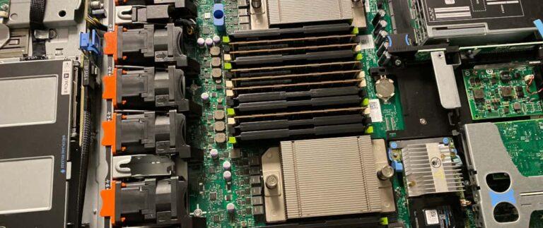 Interior of a DELL server | Dedicated Server | Astral Internet