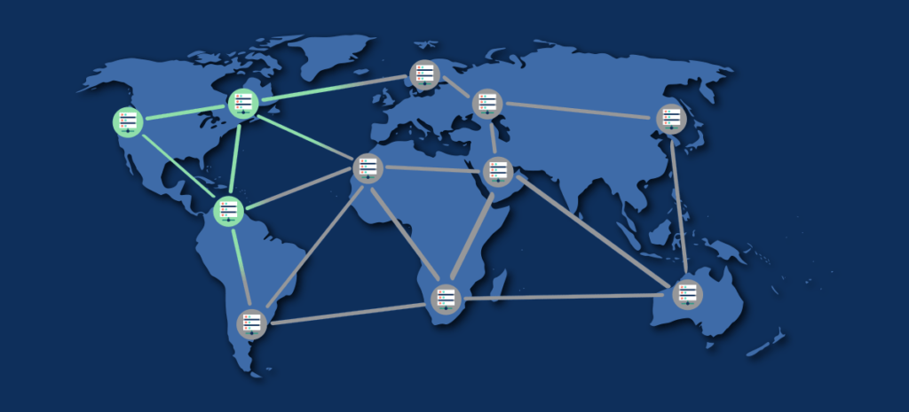 Carte du monde | Propagation DNS | Astral Internet