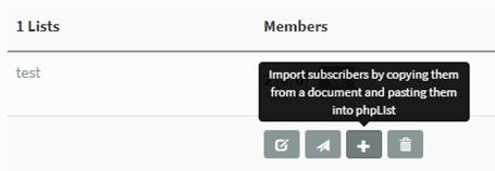 Importation de courriel individuels - phpList